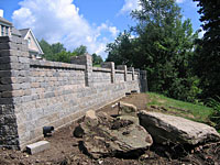 Completed Versalok Stone Wall