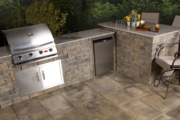 Outdoor Wood Fired Pizza Oven and Outdoor Kitchen Kits - Installed ...