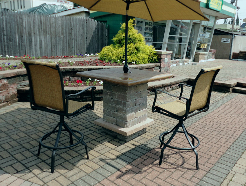 Pub Table - Outdoor Concrete Table for Patio, Pool or restaurant