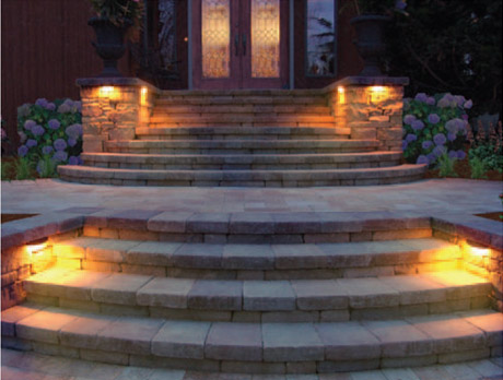 Lighting For Your Driveway Or Patio Wall And Paver Lighting