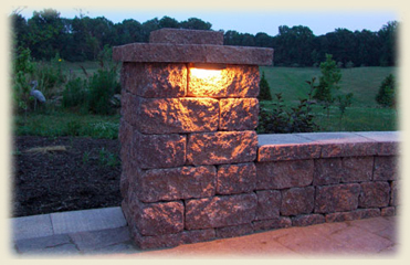 Retaining Wall Lights Are A Great Way To Brighten The