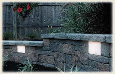Retaining Wall Lights Are A Great Way To Brighten The Areas